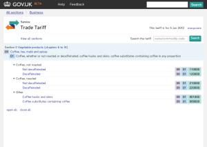 New Trade Tariff tool