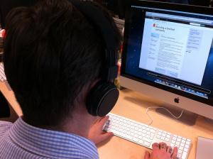 Josh tests audio navigation on GOV.UK