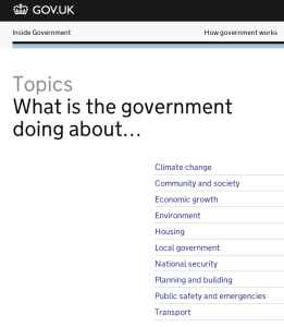 Screenshot of policy 'Topics' section