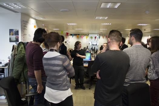 The GOV.UK team during a stand up