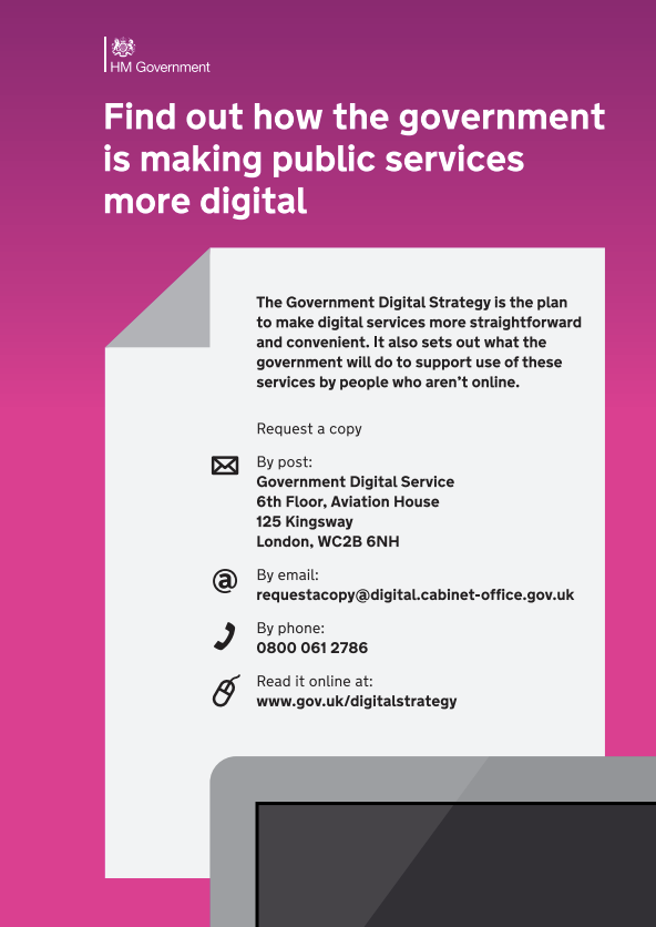poster - find out how the government is making public services more digital