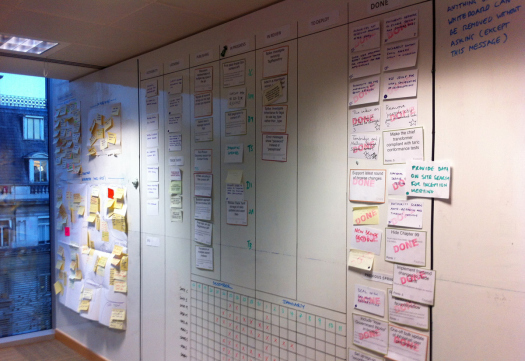 the role of the agile wall at gds government digital service