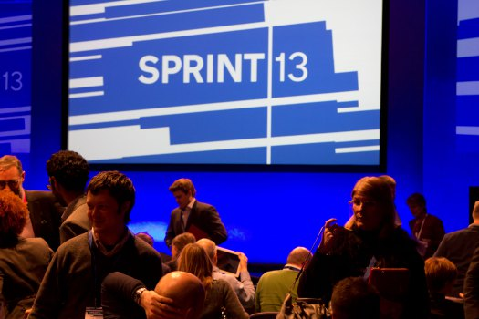Sprint 13 logo and people