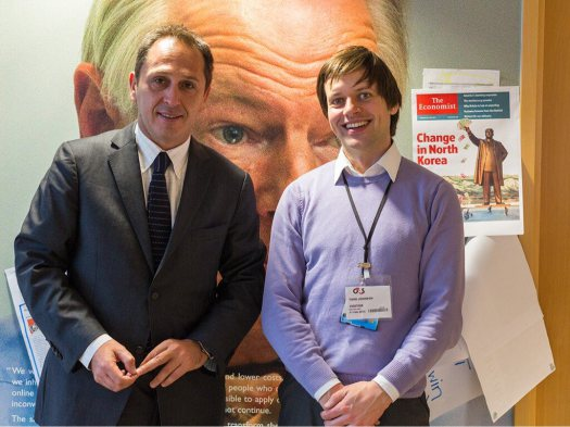 Juan Pablo Olmedo - Chilean Government, with Tord Johnsen - Cabinet Office