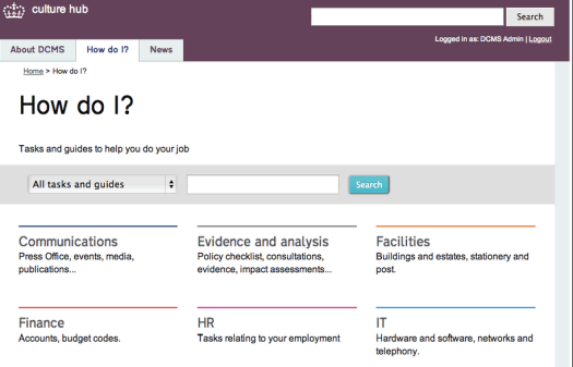 The new DCMS Intranet