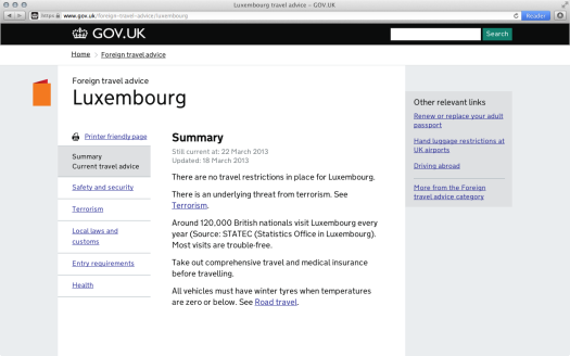 Luxembourg - Foreign Travel Advice - GOV.UK