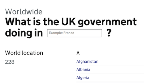 GOV UK is going Worldwide - Government Digital Service