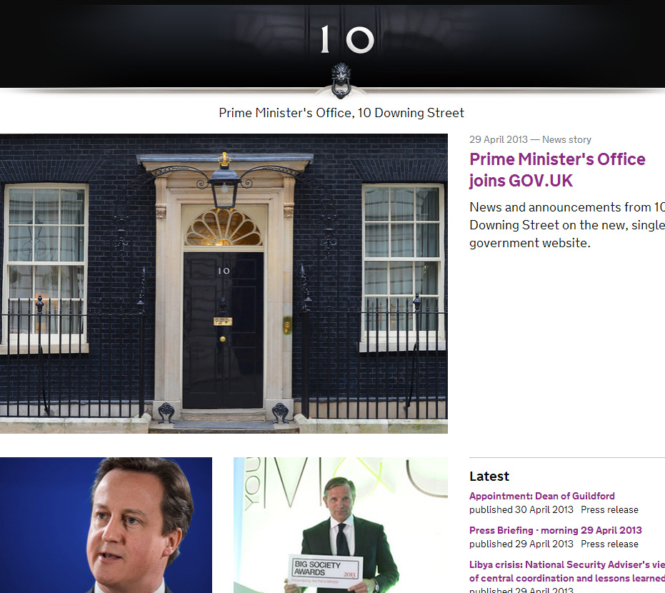 No 10 screengrab