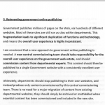 One of Martha Lane Fox's four recommendations was to 'Reinvent Government Online Publishing'. You can read her full report, happily ensconsed in its new home on GOV.UK