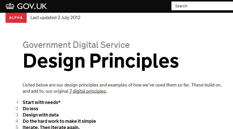 Design Principles screenshot