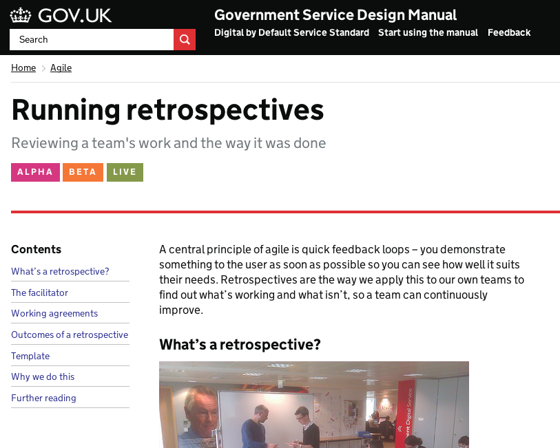 Running retrospectives screengrab