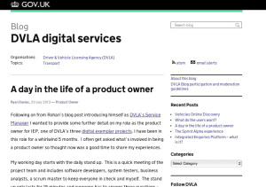 DVLA's digital transformation blog on GOV.UK