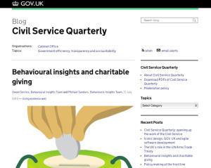 Civil Service Quarterly on GOV.UK