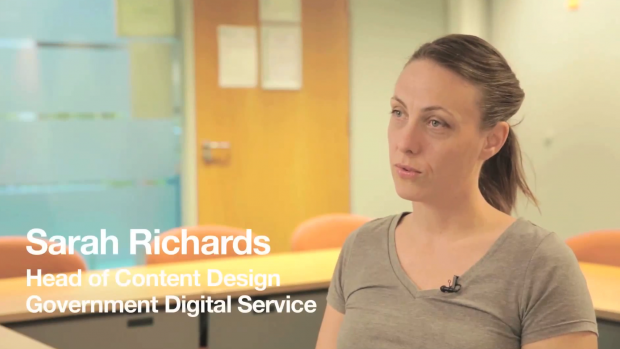 Sarah Richards - Head of Content Design Government Digital Service