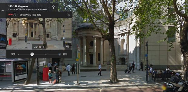 Google Street Map time machine of Aviation House