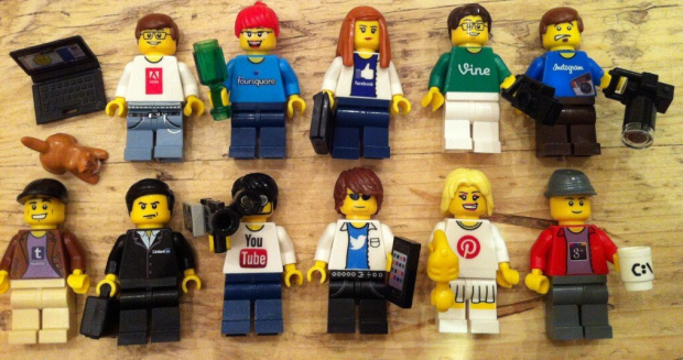 Ever wondered what your social accounts would look like if they were Lego figures? Of course you have. (Image courtesy of  Jeremy Waite)