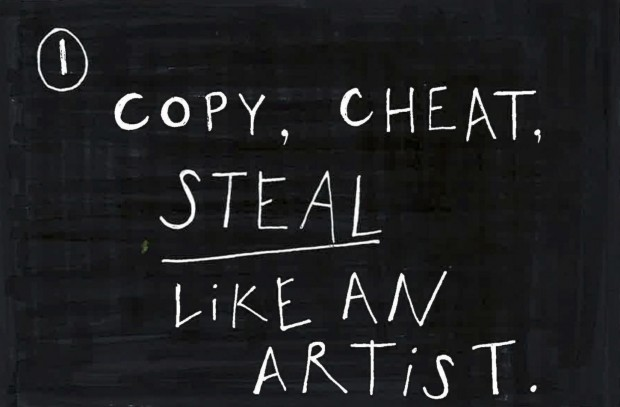 Copy, cheat, steal like an artist