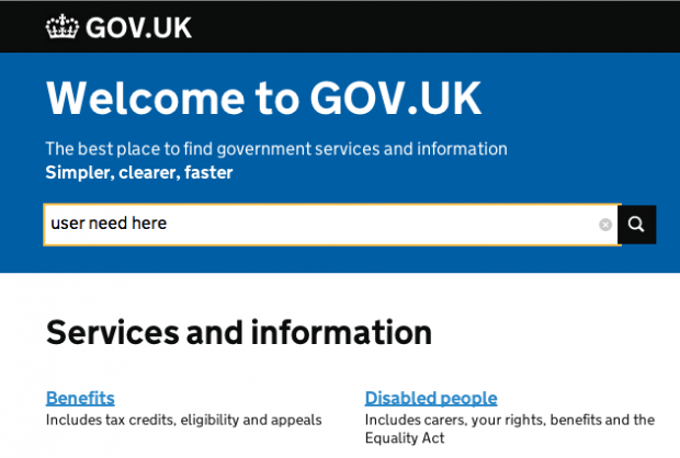 Helping government find user needs with analytics
