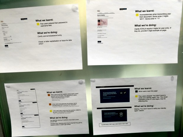 IDA user research wall, detail 3, 01.09.14 - Pete Gale
