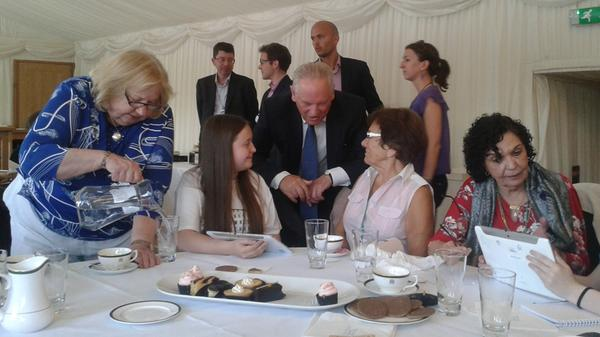 Sir Francis Maude at the EE Techy Tea Party