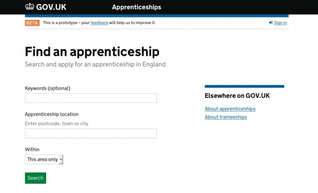 The new apprenticeships beta