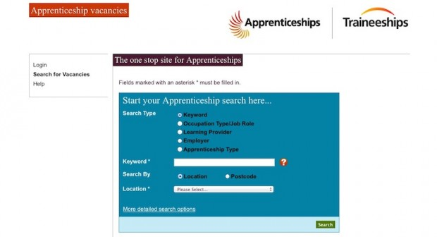 The existing apprenticeships service
