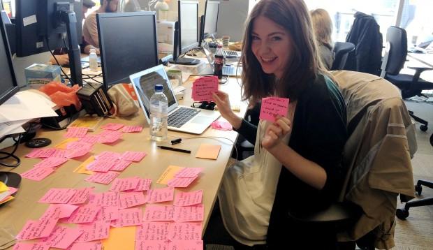 GOV.UK, Charlotte Clancy sticky notes - Rachel Singh