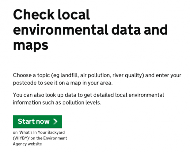 Check local environmental data and maps
