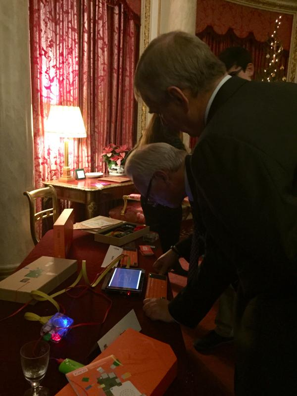 Francis Maude and HRH The Duke of York coding at Buckingham Palace