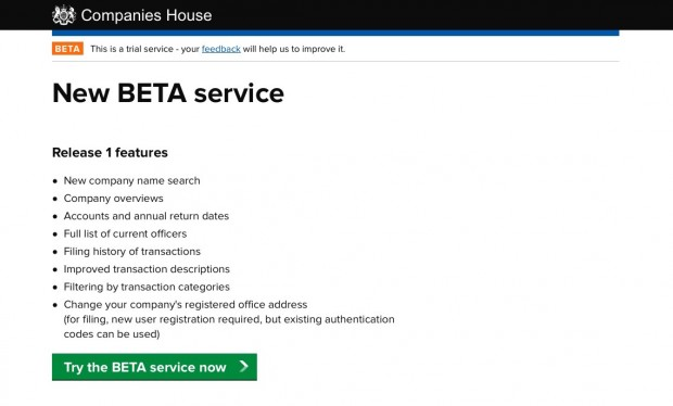 New Companies House beat service