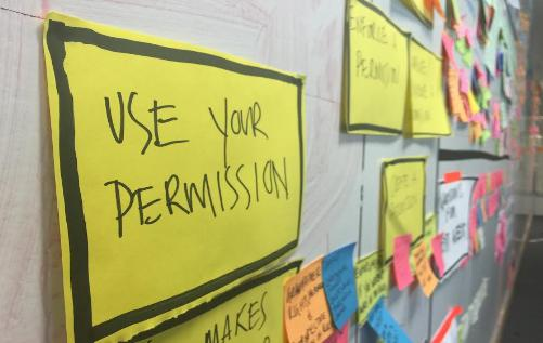 Permission post it notes