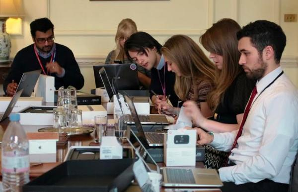 A Cabinet Office team involved in early CTS user research.