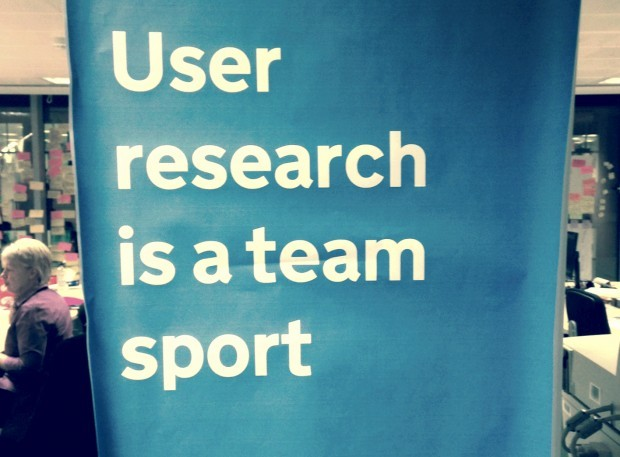 User research is a team sport poster