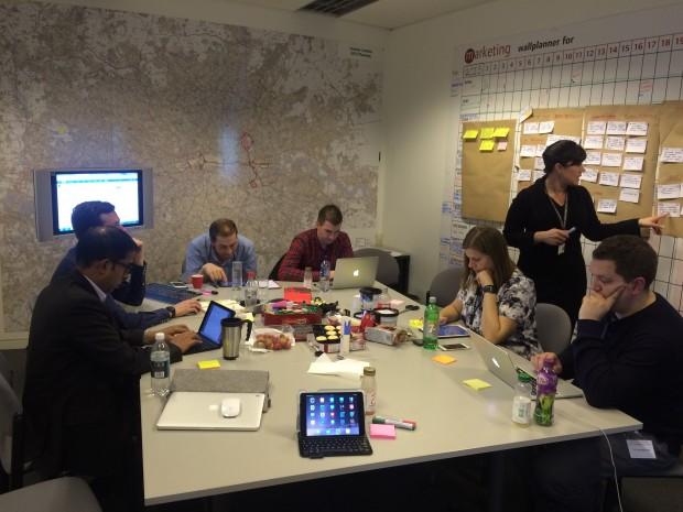 The City Hall digital transformation team hard at work