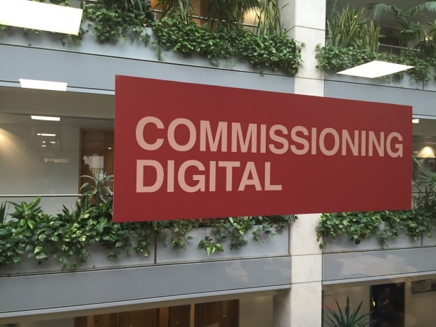 Commissioning digital signage at GDS HQ - Aviation House, London