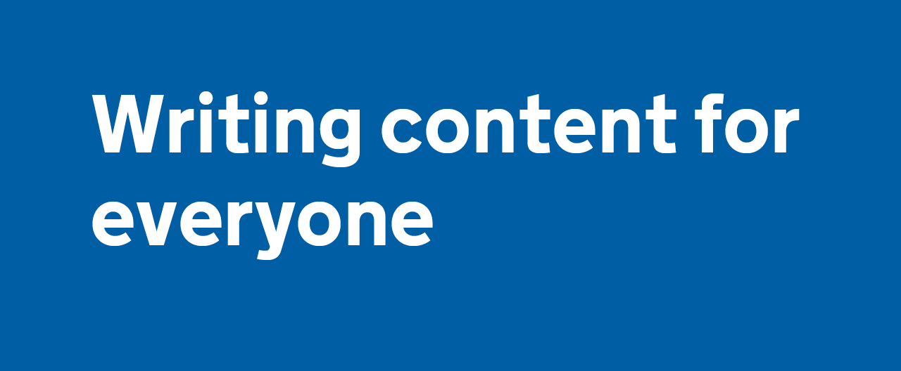 Writing content for everyone