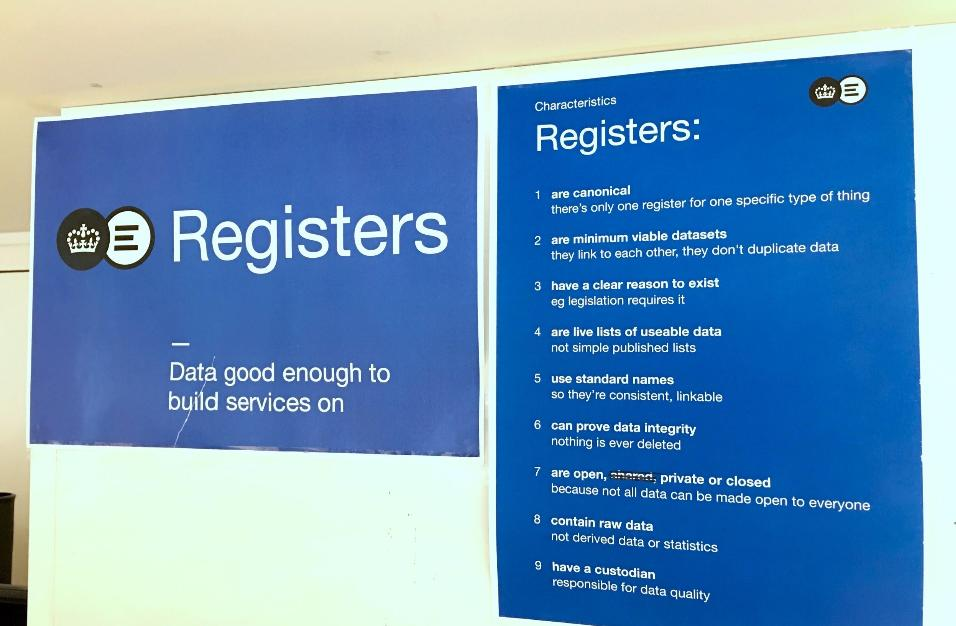 Registers poster featuring list of characteristics available here: https://gds.blog.gov.uk/2015/10/13/the-characteristics-of-a-register/