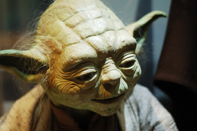 Close up of Yoda (Star Wars)