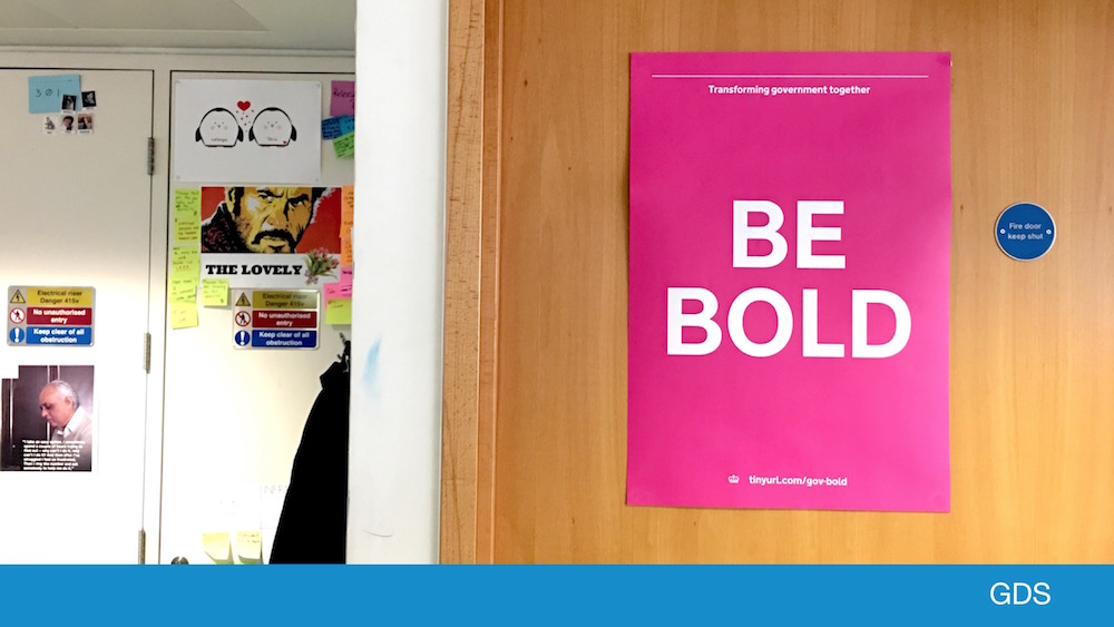 'Be bold' poster