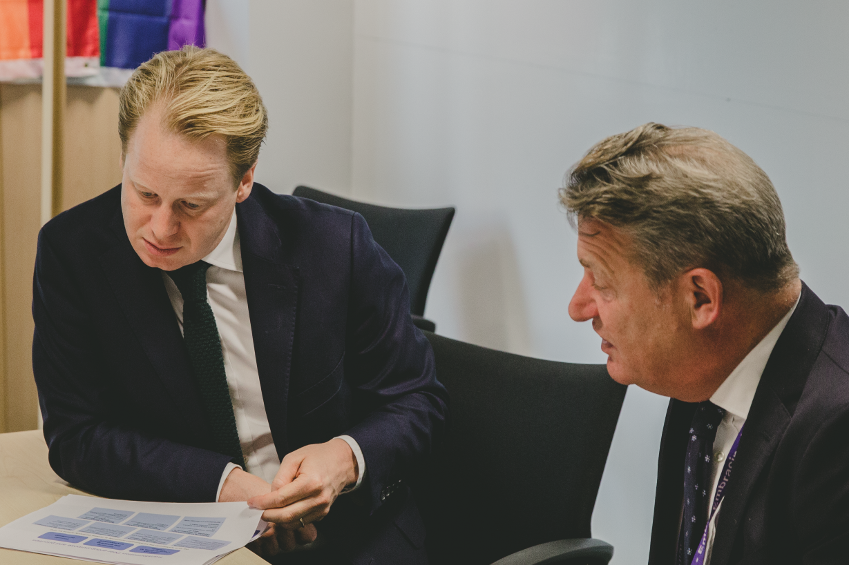 Ben Gummer and director general of GDS, Kevin Cunnington