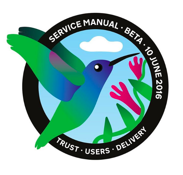 Hummingbird mission patch to celebrate the Service Manual passing its beta assessment