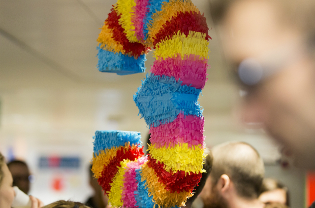 A piñata to celebrate GOV.UK's third birthday.