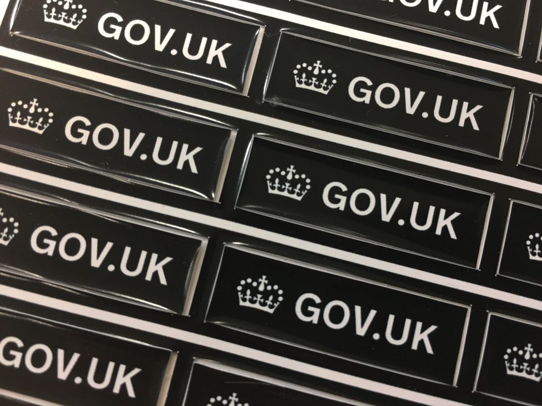 GOV.UK stickers