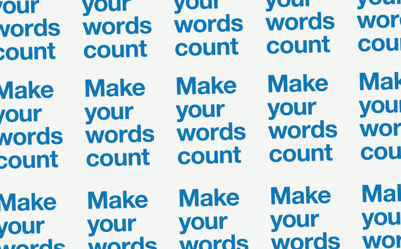 make your words count sticker