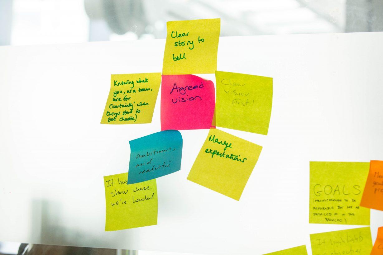 roadmap sticky notes