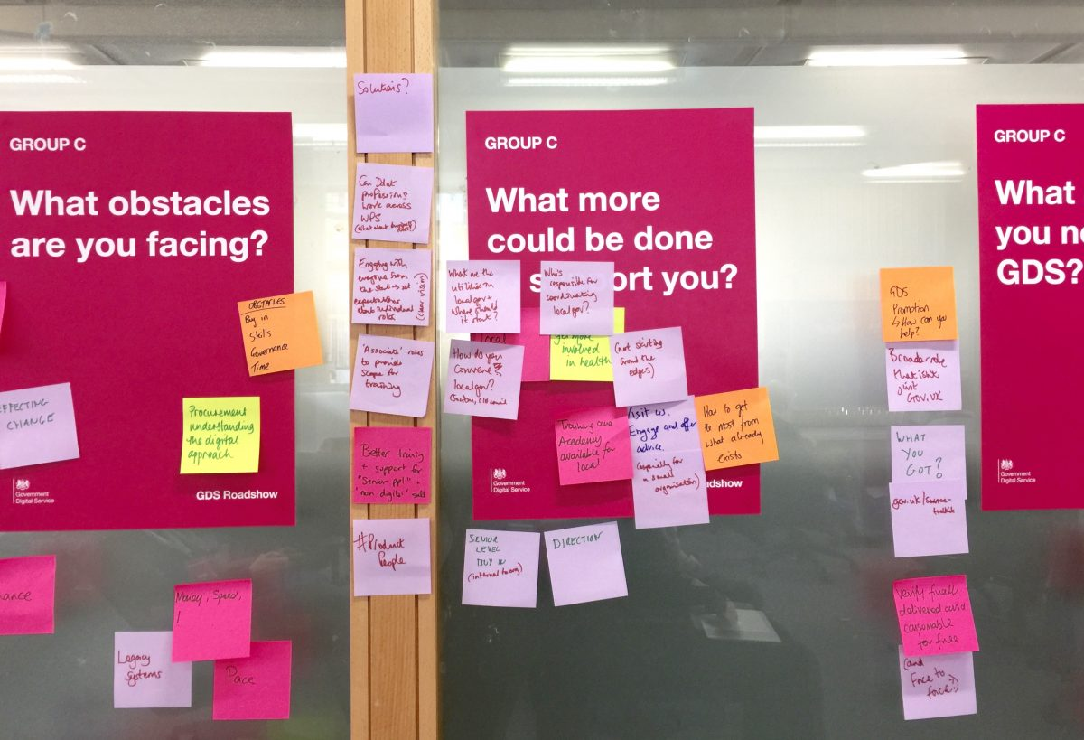 post it notes with feedback