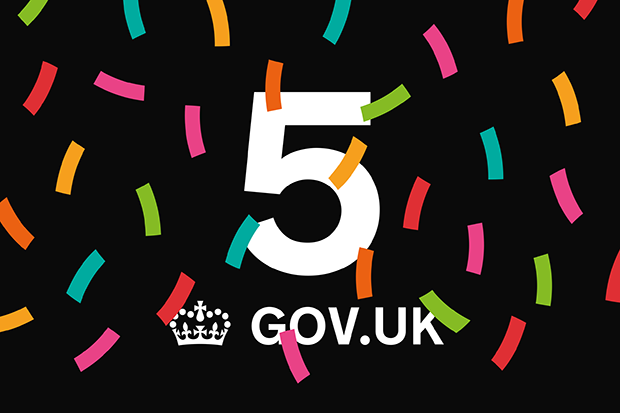 Graphic saying 'GOV.UK is 5'