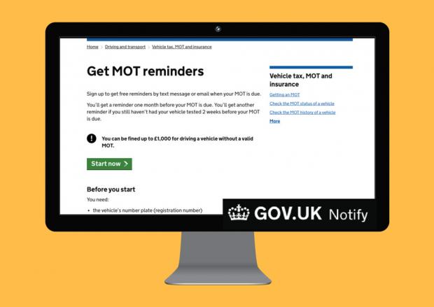 Get MOT reminders service screenshot