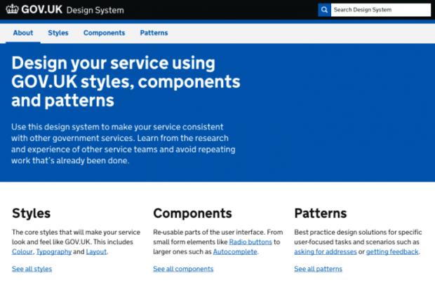 GOV.UK Design System homepage screenshot