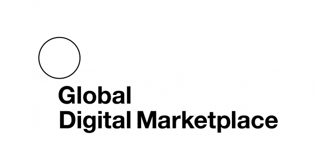 An blank page with 'Global Digital Marketplace' written on it